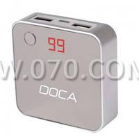 Внешнее зарядное устройство Power Bank DOCA D525 (8400mAh), серебро