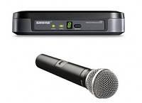 Микрофоном Shure PG 4     . f