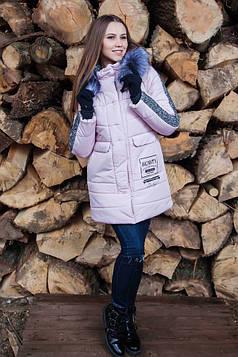Женская зимняя теплая куртка с капюшоном
