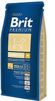 Brit Premium Adult Medium 8кг корм для собак средних пород