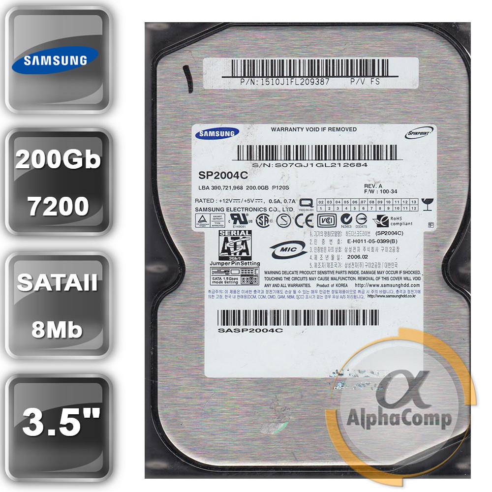 "Жесткий диск 3.5"" 200Gb Samsung SP2004C (8Mb/7200/SATAII) БУ"