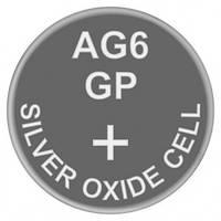 Батарейка часовая серебро-цинк, Silver oxide G6 (371, SR69, SR920SW) GP 1.55V