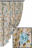 Ткань с цветочным принтом Лайк