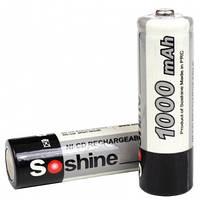 Аккумулятор никель-кадмиевый Ni-Cd AA (R6) Soshine 1.2V (1000mAh), 4 шт. в блистере