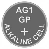 Батарейка часовая щелочная AG1 (LR60, LR620, GP164) GP 1.5V