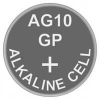 Батарейка часовая щелочная, Alkaline G10 (V10GA, D189A, GP189, LR54) GP 1.5V