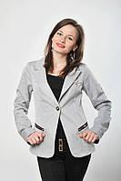 Пиджак светло серый, р.42, код 392М