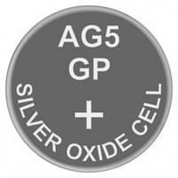Батарейка часовая, серебро-цинк, Silver oxide G5 (393, SR48, SR754W) GP 1.55V