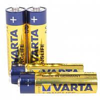 Батарейка щелочная, Alkaline AA Longlife (4106, LR6) Varta 1.5V, 4 шт. в блистере