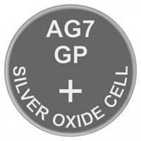 Батарейка часовая, серебро-цинк, Silver oxide G7 (399, SR57, SR927SW) GP 1.55V