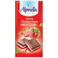 Шоколад Alpinella (Альпинелла с клубничной начинкой) 100 г. Польша