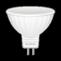 LED лампа GLOBAL MR16 5W 4100K (яркий свет) 220V GU5.3 (1-GBL-114)