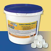 Таблетки  для бассейна Crystal Pool шоковый хлор Quick Chlorine Tablets – 50кг