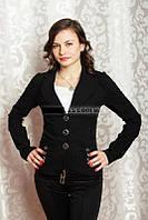 Пиджак стрейчевый черный, р.42, код 2060М