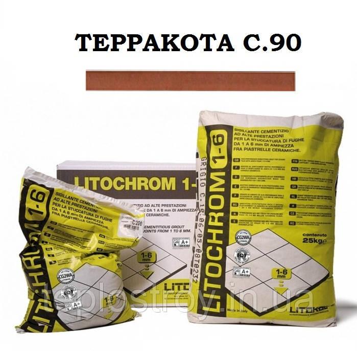 Затирка Litokol Litochrom 1-6 C.90 терракота, 5 кг