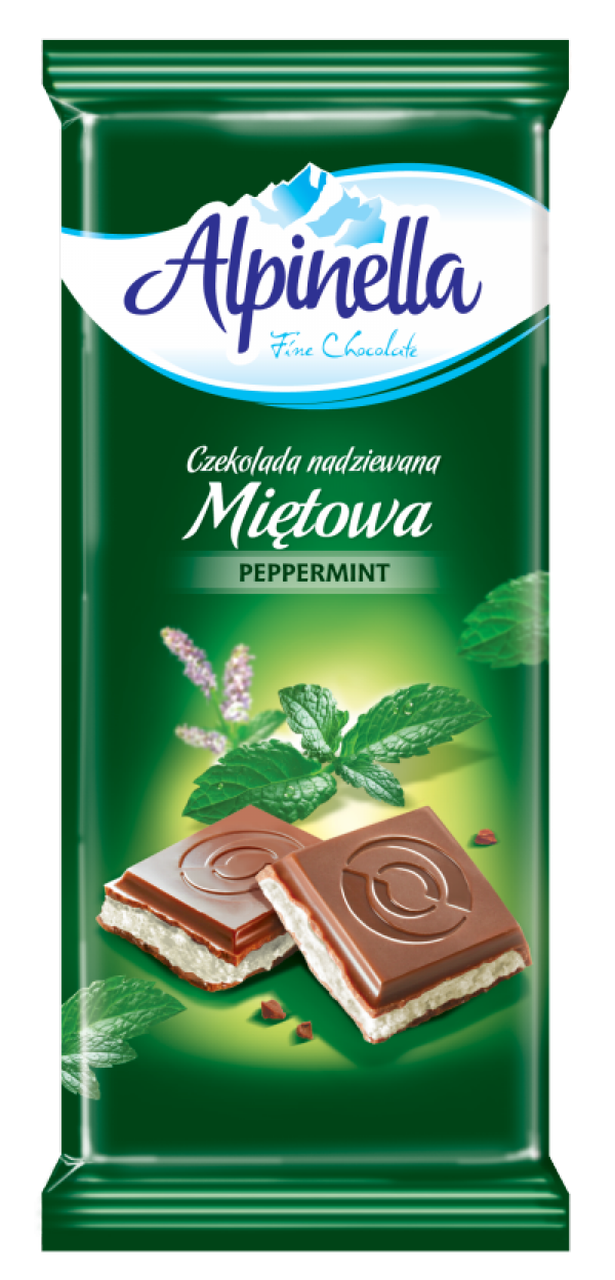 Шоколад Alpinella (Альпинелла с мятной начинкой) 100 г. Польша