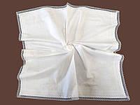 Теплая крыжма для крещения Princess с двойным кружевом