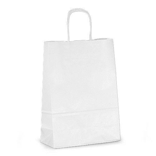Крафт-пакет Volley 23х10х32 белый с витыми ручками, фото 1