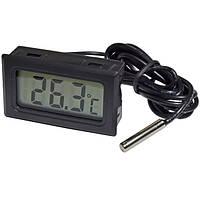 Мини жк-термометр с выносным датчиком