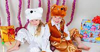 """Детские новогодние костюмы """"Белый или коричневый мишка """""""