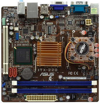 Материнская плата Asus ITX-220 встроенный процессор Celeron 220, s478