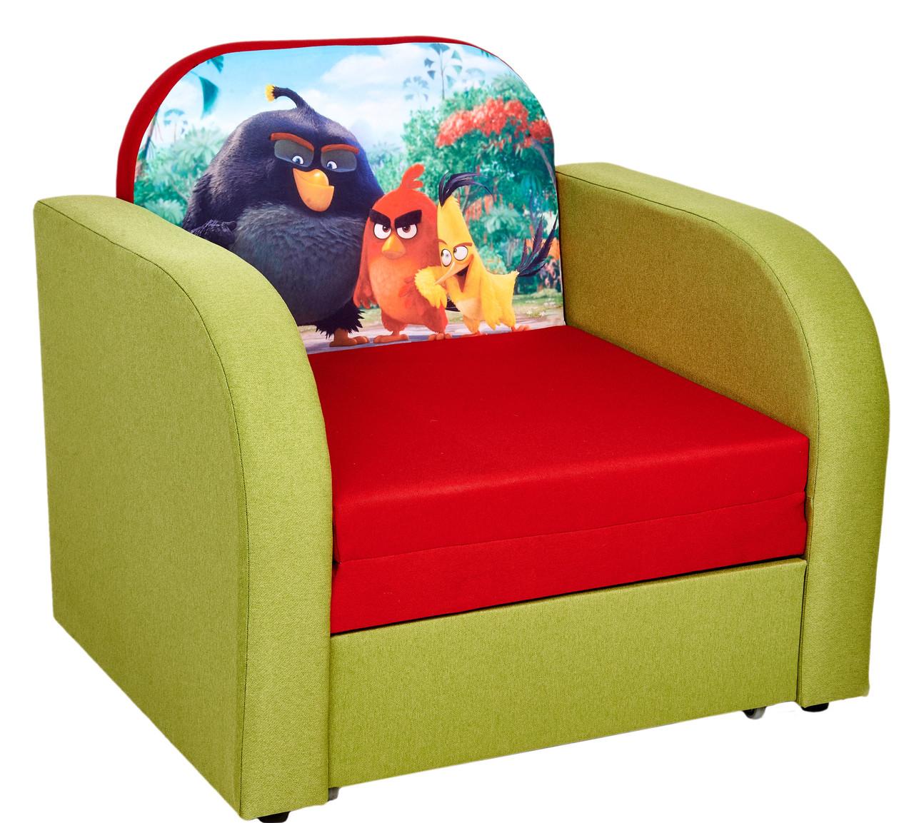 Детское кресло-кровать раскладное с ящиком для белья Кай