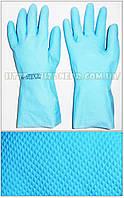 Перчатки КЩС К20 Щ50 латексные, модель 117 (голубые)