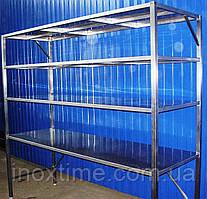 Стелажі складські з нержавіючої сталі
