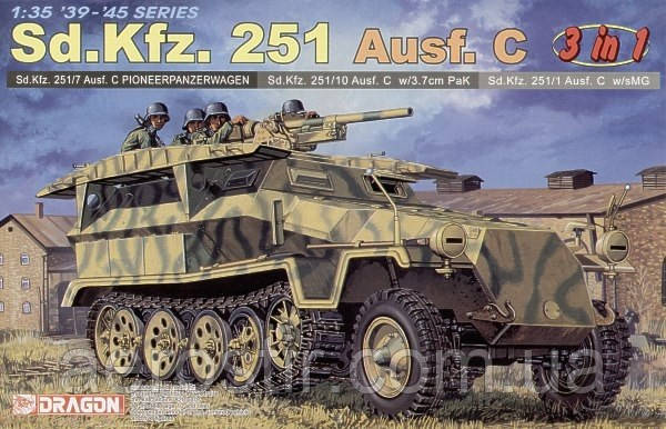Sd.Kfz.251 Ausf.C [3in1] 1/35 DRAGON 6224