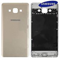 Задняя панель корпуса (крышка) для Samsung Galaxy A7 A700F, оригинал, золотистый