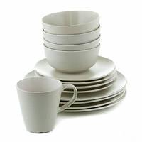 Набор столовой посуды 16 предметов, кремовый