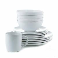 Набор столовой посуды 16 предметов, белый