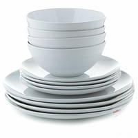 Набор столовой посуды 12 предметов, белый