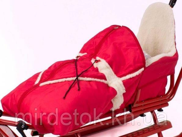 Конверт для санок Adbor Piccolino на овчине Польша (цвета в ассортименте)