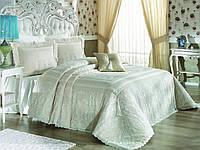 """Комплект элитного постельного белья Zebra Casa, """"Nadia Pano"""" Кремовый, Капучино, Пудра."""