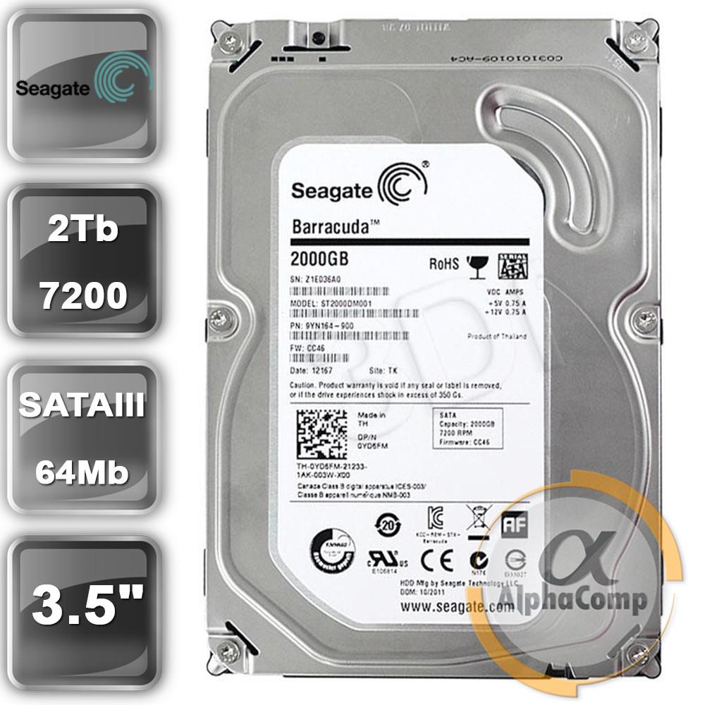 "Жесткий диск 3.5"" 2Tb Seagate ST2000DM001 БУ"
