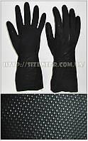 Перчатки КЩС К50 Щ50 латексные с неопреном, модель 415 (черные)