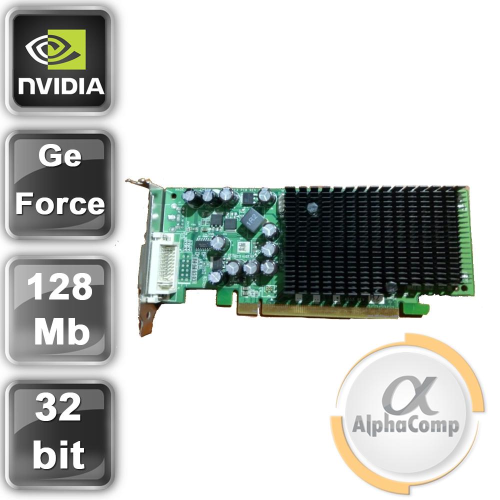 Видеокарта PCI-E NVIDIA GeForce 6200LE (128Mb/DDR/32bit/DVI) LP БУ