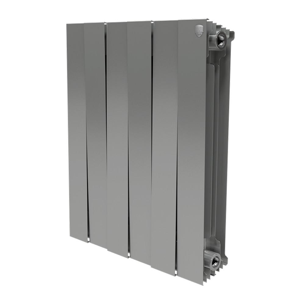 Радиатор биметаллический Royal Thermo Piano Forte 500 Silver Satin (8 секций)