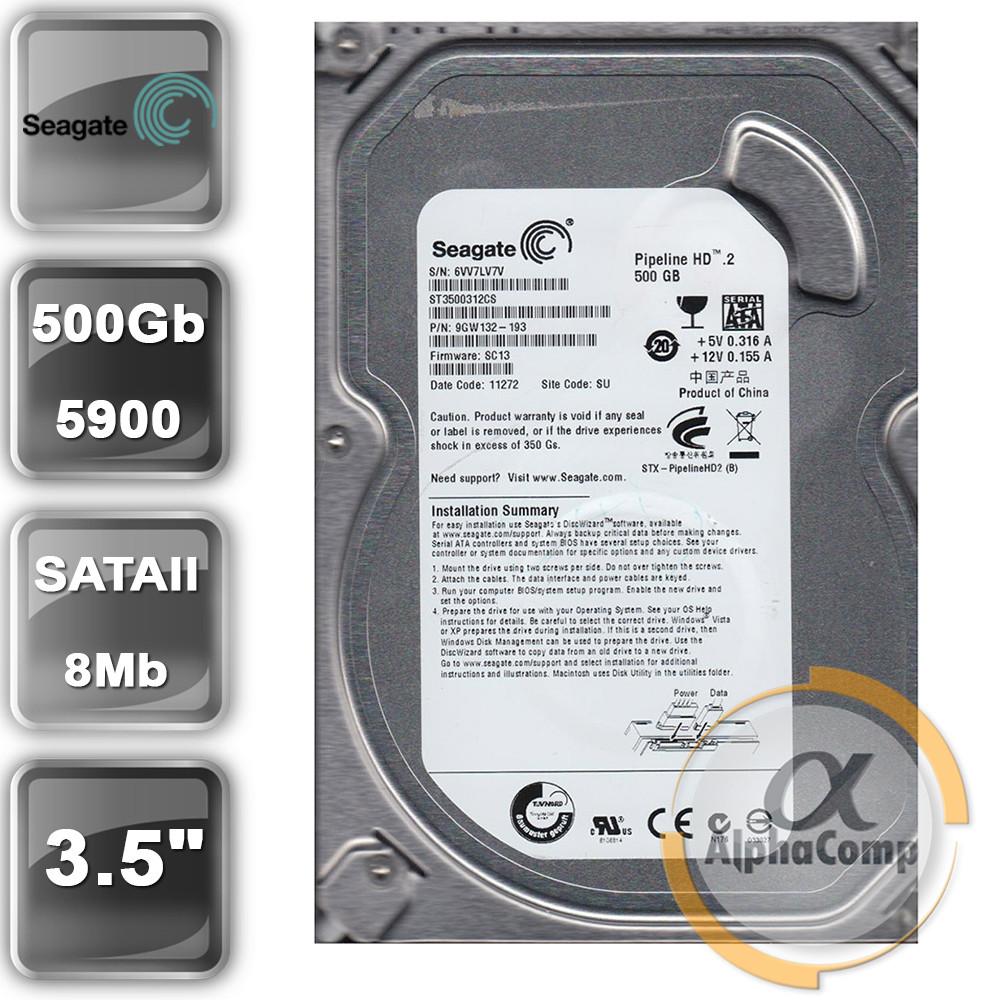 """Жесткий диск 3.5"""" 500Gb Seagate ST3500312CS (8Mb/5900/SATAII) БУ"""