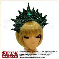 Корона Лесная царевна зеленая на обруче
