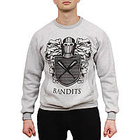 Свитшот теплый Bandit Arms Gray