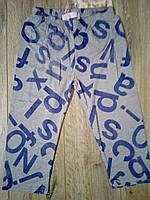 Бриджи трикотажные летние для девочки р.140-164 Grace 152, серый