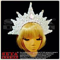 Корона Снежная королева белая новогодняя на обруче