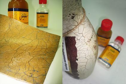 Двухкомпонентный кракелюр (Грундлак) Кракелирующее средство №1 Solo Goya 50мл