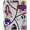 """Дневник белый, для девочек, обложка из кожезаменителя мягкая, принт """"барышни"""" MB102668"""