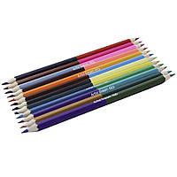 """Карандаши цветные двухсторонние  SAT """"Artist dream"""" (Мечта художника), 6 шт."""