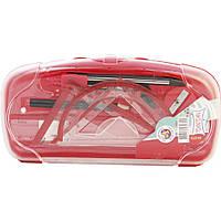 Набор инструментов для черчения SAT, красный. SQ102645