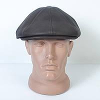 Чоловіча кепка-восьмиклинка з  вушками зі шкірозамінника