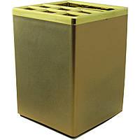 Подставка для ручек пластиковая офисная квадратная SQ1026189